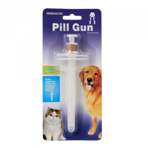 Pill Gun Makes administering capsules to pets much easier.